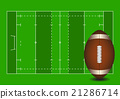 Football field. American football ball 21286714