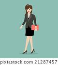 Business woman walking 21287457