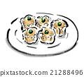 烧卖 炙烤的 食物 21288496