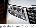 Beautiful white van headlights 21290123