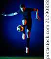 Soccer player Man isolated 21290838