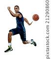 basketball player  man Isolated  21290860