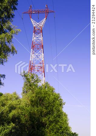 Stock Photo: power line high-voltage