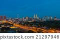 Modern city view of Kuala Lumpur during sunrise 21297946