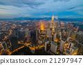 Dramatic scenery of the Kuala Lumpur at sunset 21297947