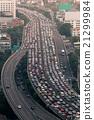 Traffic jam on express way Bangkok, Thailand 21299984