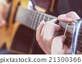 Practicing in playing guitar, Hand of young men 21300366