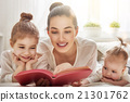 mother reading a book 21301762