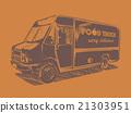 food, truck, orange 21303951