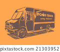 food, truck, orange 21303952