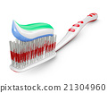 toothbrush with toothpaste 21304960