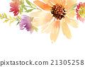 Postcard watercolor sunflowers 21305258