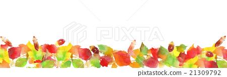 例證秋天色的葉子背景 21309792