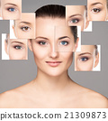 Collage of portraits of young women 21309873