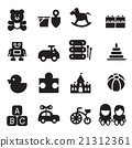 silhouette Toy icons 21312361