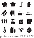 silhouette Cooking icons set 21312372
