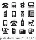 communication, phone vintage,  telephone icon 21312373