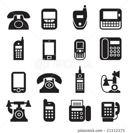 Communication Phone Vintage Telephone Icon Stock Illustration