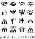 Business Team icon set 21312590