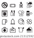 Hygiene icons set 21312592