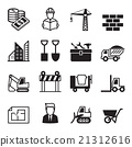 Construction icons set 1 21312616