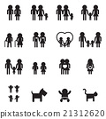 Family and people icon set 21312620
