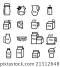 milk icon set 21312648