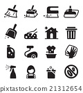 Cleaning icon set 21312654
