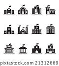 School building icons set 21312669