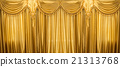 Gold curtains on stage 21313768