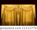 Gold curtains on stage 21313770