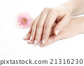 Female hands after manicure 21316230