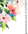 Greeting Card with Blooming Flowers 21323662