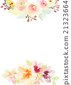 Greeting Card with Blooming Flowers 21323664