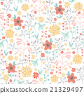 seamless pattern with different flowers 21329497