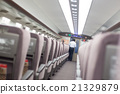 Interior of modern japanese fast train. 21329879
