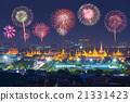 Colorful firework at Wat Phra Kaew 21331423