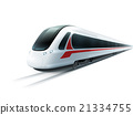 High-Speed Train Realistic Isolated Image  21334755