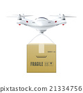 Unmanned Drone With Box 21334756