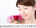 ビューティーイメージ バラと女性 21334838