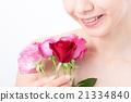 ビューティーイメージ バラと女性 21334840