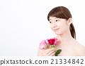 ビューティーイメージ バラと女性 21334842