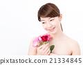 ビューティーイメージ バラと女性 21334845