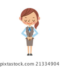 businesswoman, greeting, bow 21334904