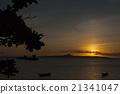 沖繩縣 例如:島嶼 落日 21341047