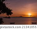 沖繩縣 例如:島嶼 落日 21341055