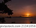 沖繩縣 例如:島嶼 落日 21341056