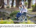 老年护理 轮椅 情侣 21344047