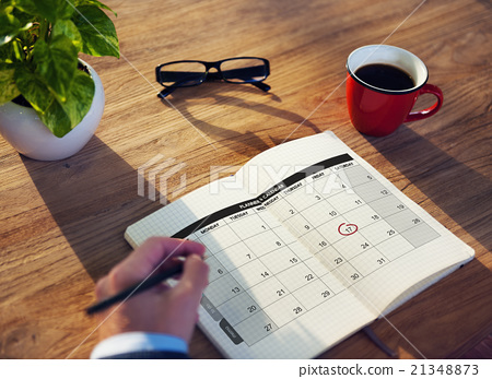 Stock Photo: Calender Planner Organization Management Remind Concept