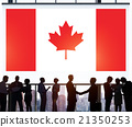 Canada National Flag Business Communication Concept 21350253